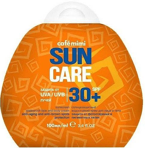 Crema solare viso e corpo impermeabile SPF30 + - Cafe Mimi Sun Care