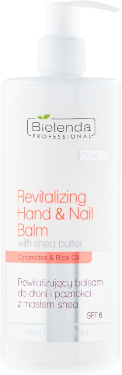 Balsamo rigenerante per mani e unghie - Bielenda Professional Hand Program Revitalizing Hand & Nail Balm SPF 6