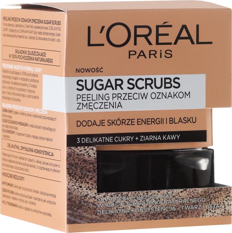 Scrub viso allo zucchero - L'Oreal Paris Pure-Sugar Resurface & Energize Kona Coffee Scrub