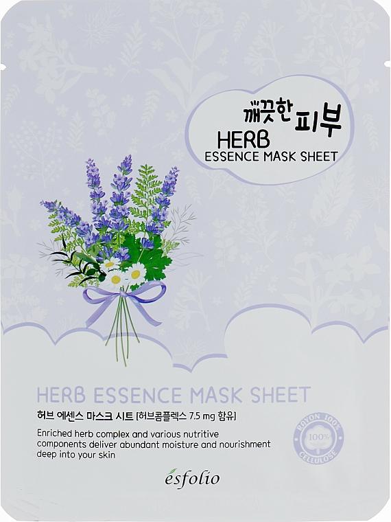 Maschera in tessuto con estratto di erbe - Esfolio Pure Skin Essence Herb Mask Sheet