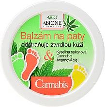 Profumi e cosmetici Balsamo piedi - Bione Cosmetics Cannabis Heel Balm Removes Hard Skin