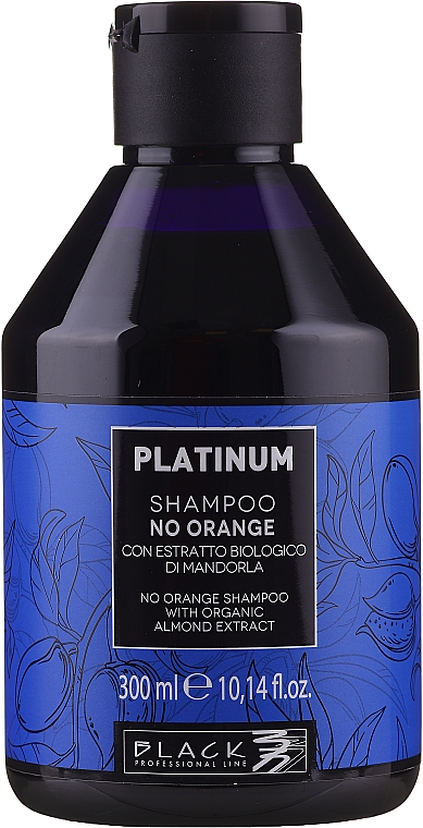 Shampoo anti-arancione con estratto di mandorle - Black Professional Line Platinum No Orange Shampoo With Organic Almond Extract