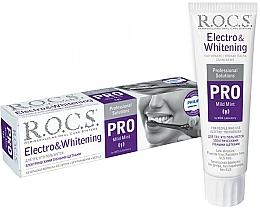 Profumi e cosmetici Dentifricio per spazzolini elettrici - R.O.C.S. Pro Electro & Whitening Mild Mint