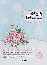 Profumi e cosmetici Maschera in tessuto con estratto di rose - Esfolio Pure Skin Essence Rose Mask Sheet