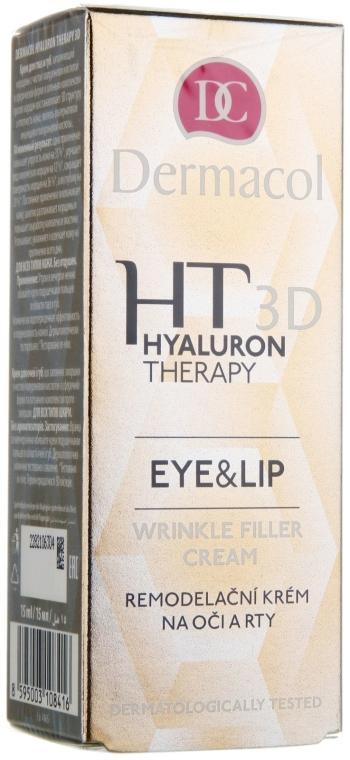 Crema labbra e contorno occhi all'acido ialuronico - Dermacol Hyaluron Therapy 3D Eye and Lip Wrinkle Filler Cream
