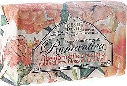 """Profumi e cosmetici Sapone naturale vegetale """"Ciliegia e basilico"""" - Nesti Dante Romantica Soap"""