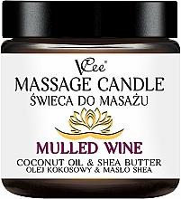 Profumi e cosmetici Candela da massaggio al vin brulè - VCee Massage Candle Mulled Wine Coconut Oil & Shea Butter