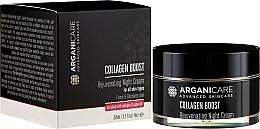Profumi e cosmetici Crema da notte antietà - Arganicare Collagen Boost Rejuvenating Night Cream