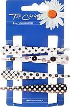 Profumi e cosmetici Pinzette capelli, 25099, bianco-nero - Top Choice