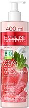 Profumi e cosmetici Crema corpo idratante e levigante - Eveline Cosmetics 99% Natural Strawberry