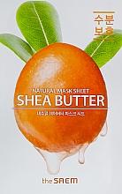 Profumi e cosmetici Maschera al burro di karitè - The Saem Natural Shea Butter Mask Sheet