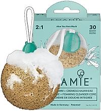 Profumi e cosmetici Spugna detergente delicata con sapone per la doccia - Foamie Aloe You Vera Much Shower Sponge