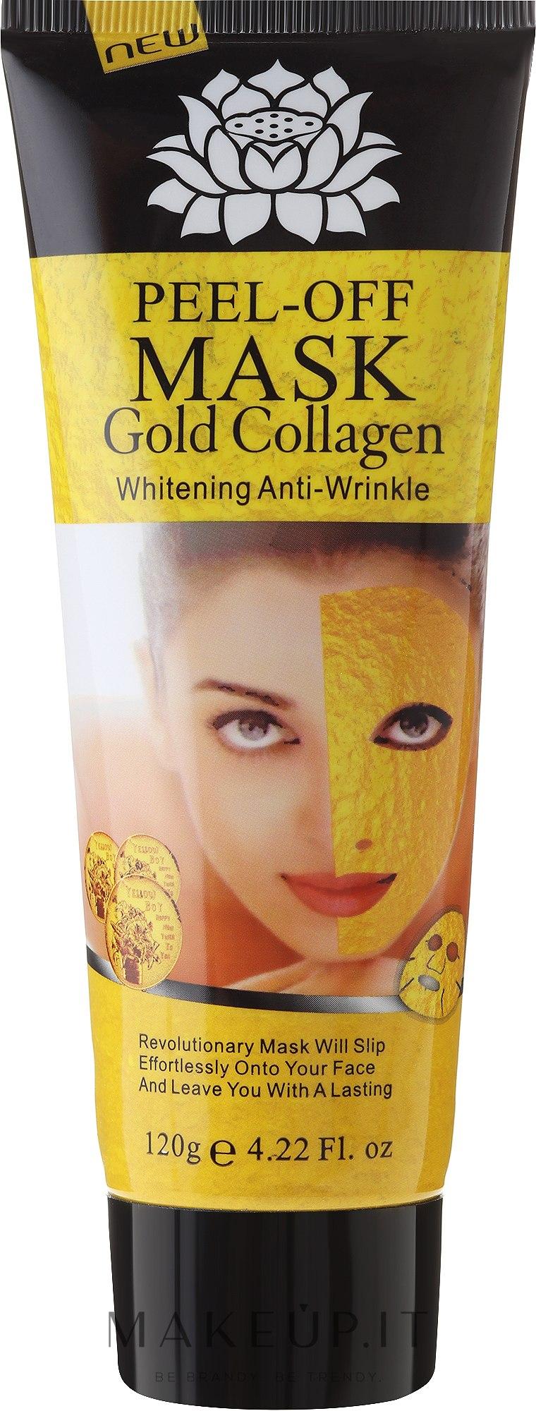 Maschera viso anti-età con oro - Pilaten Anti Aging 24K Gold Collagen Peel Off Face Mask — foto 120 g