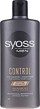 Profumi e cosmetici Shampoo-condizionante per capelli normali e secchi, per uomo - Syoss Men Control 2-in-1 Shampoo-Conditioner