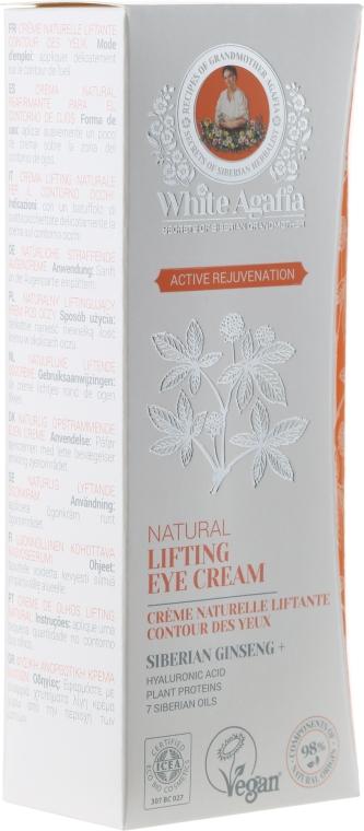 """Crema lifting contorno occhi """"Ringiovanimento attivo"""" - Ricette di nonna Agafya White Agafia Natural Lifting Eye Cream"""