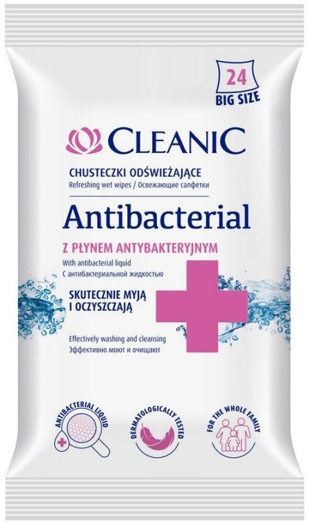 Salviette antibatteriche, 24 pz - Cleanic Antibacterial Wipes