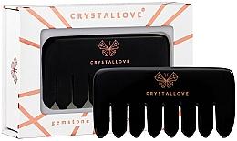 Profumi e cosmetici Pettine da massaggio per il cuoio capelluto in ossidiana - Crystallove
