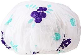 Profumi e cosmetici Cuffia da doccia, 9298, bianco-viola - Donegal Shower Cap