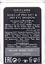 Ombretto - Oriflame The One Make-up Pro Wet&Dry (ricarica sostituibile) — foto N2
