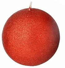 Profumi e cosmetici Candela decorativa, palla, rossa, 8 cm - Artman Glamour