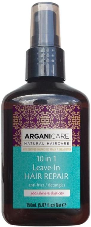 Siero capelli 10in1 - Arganicare Shea Butter 10 in 1 Leave-In Hair Repair Anti-Frizz