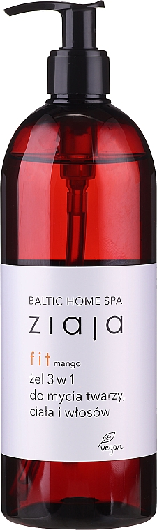 """Gel detergente universale viso, corpo e capelli """"Mango"""", con dosatore - Ziaja Baltic Home Spa Gel Mango"""
