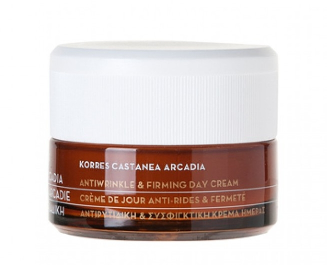 Crema antirughe giorno, con castagna - Korres Castanea Arcadia Antiwrinkle&Firming Day Cream — foto N2