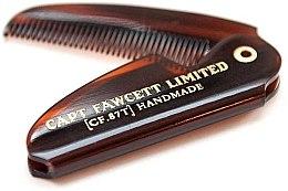 Profumi e cosmetici Pettine per baffi pieghevole, CF87T - Captain Fawcett Folding Pocket Moustache Comb