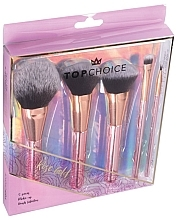 Profumi e cosmetici Set pennelli trucco, 5 pz, 37351 - Top Choice Rose Gold