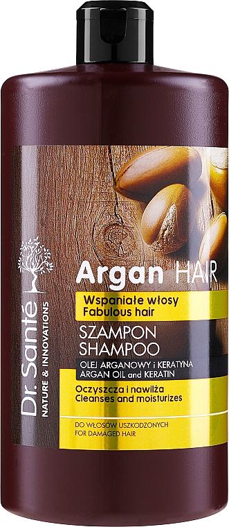 """Shampoo per capelli """"Idratante"""" con olio di argan e cheratina - Dr. Sante Argan Hair"""
