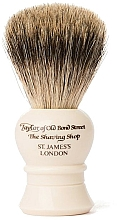 Profumi e cosmetici Pennello da barba, P2233, beige - Taylor of Old Bond Street Shaving Brush Pure Badger size S
