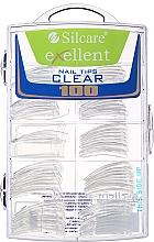 Profumi e cosmetici Tips per unghie, k/k - Silcare Tipsy Exellent Clear