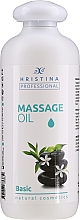 Profumi e cosmetici Olio da massaggio per corpo - Hristina Professional Basic Massage Oil