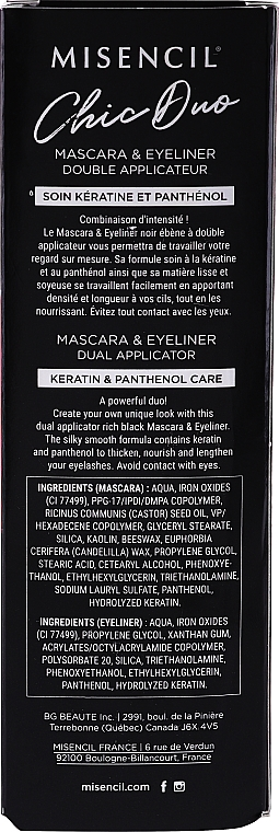 Mascara-eyeliner con doppio applicatore - Misencil Chic Duo Mascara & Eyeliner Dual Applicator — foto N3
