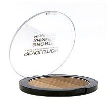 Bronzer-illuminante viso - Makeup Revolution Ultra Bronze, Shimmer and Highlight — foto N3