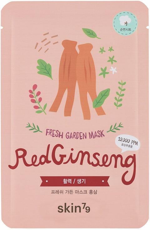 Maschera viso in tessuto - Skin79 Fresh Garden Red Ginseng Mask — foto N1