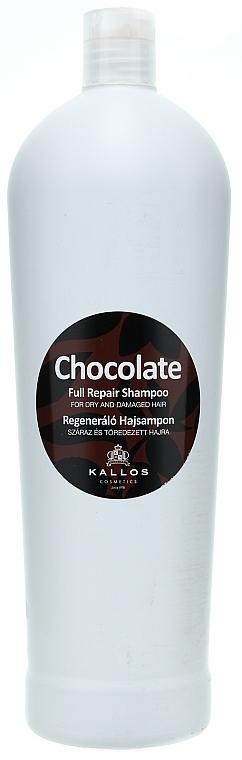 """Shampoo per capelli secchi e danneggiati """"Cioccolato"""" - Kallos Cosmetics Chocolate Full Repair Shampoo"""