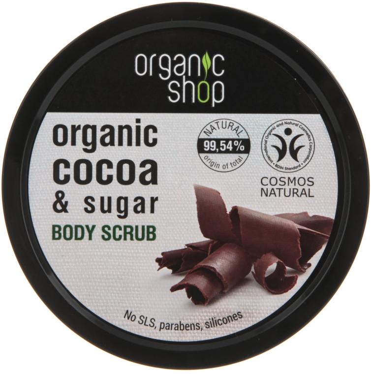 """Scrub corpo """"Cioccolato belga"""" - Organic Shop Body Scrub Organic Cocoa & Sugar"""