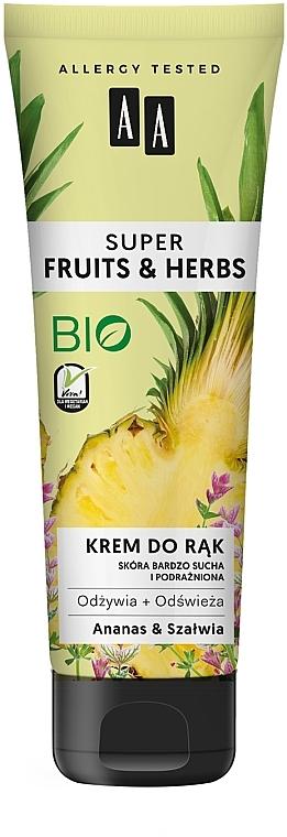 """Crema mani """"Ananas e salvia"""" - AA Super Fruits & Herbs"""