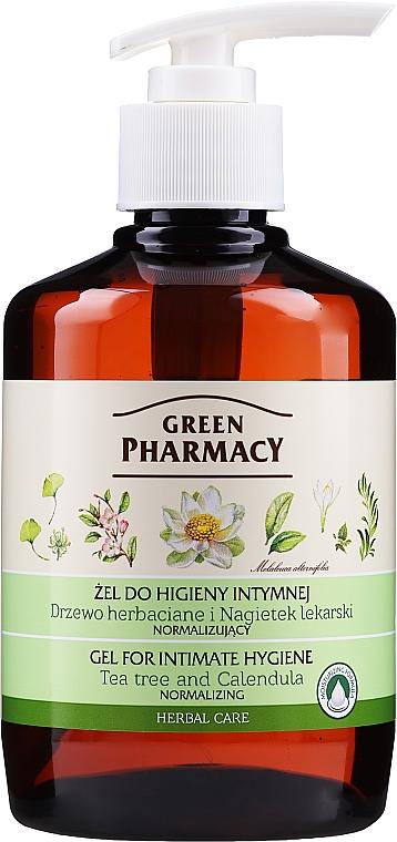 Gel per l'igiene intima con estratto di calendula e tea tree - Green Pharmacy