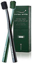 Profumi e cosmetici Spazzolino da denti morbido e sensibile - Swiss Smile Herbal Bliss Two Toothbrushes