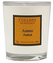 "Profumi e cosmetici Candela profumata ""Ambra Grigia"" - Collines De Provence Amber Scented Candle"