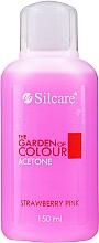 """Profumi e cosmetici Solvente togli smalto """"Fragola"""" - Silcare The Garden Of Colour Aceton Strawberry Pink"""
