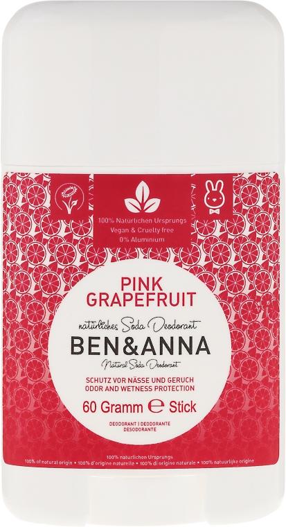 """Deodorante a base di bicarbonato di sodio """"Pompelmo Rosa"""" (plastica) - Ben & Anna Natural Soda Deodorant Pink Grapefruit"""