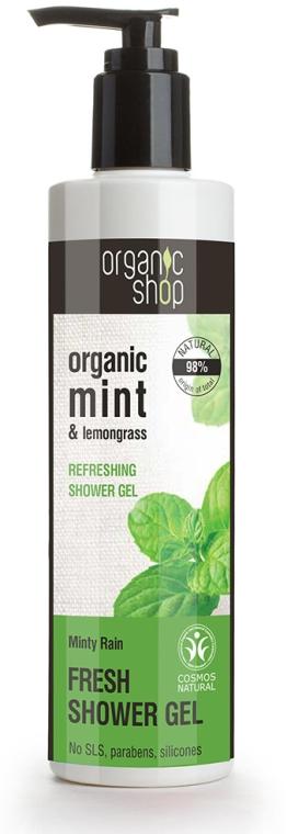 Gel doccia rinfrescante - Organic Shop Organic Mint and Lemongrass Fresh Shower Gel