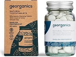 Profumi e cosmetici Compresse per la pulizia dei denti alla menta inglese - Georganics Natural Toothtablets English Peppermint