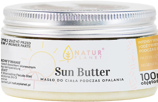 Burro corpo solare - Natur Planet Sun Butter