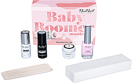 Profumi e cosmetici Set - NeoNail Professional Baby Boomer Set (top/7,2ml + base/7,2ml + gel/5ml + gum/12ml + sponge/25pc + sticks/10pc)