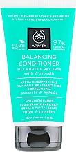 Profumi e cosmetici Condizionante normalizzante per radici oleose e doppie punte secche con propoli e ortica - Apivita Balancing Conditioner