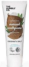 """Profumi e cosmetici Dentifricio naturale """"Cocco"""" - The Humble Co. Natural Toothpaste Coconut & Salt"""